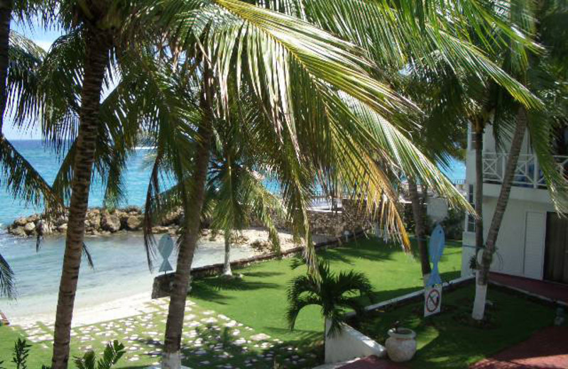 Beach view at Chrisanns Beach Resort.