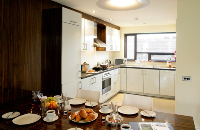 Kitchen in unit at Castlemartyr.