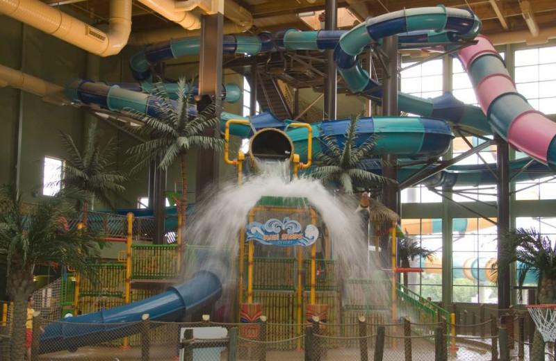 Bucket drop in waterpark at Maui Sands Resort & Indoor Waterpark.