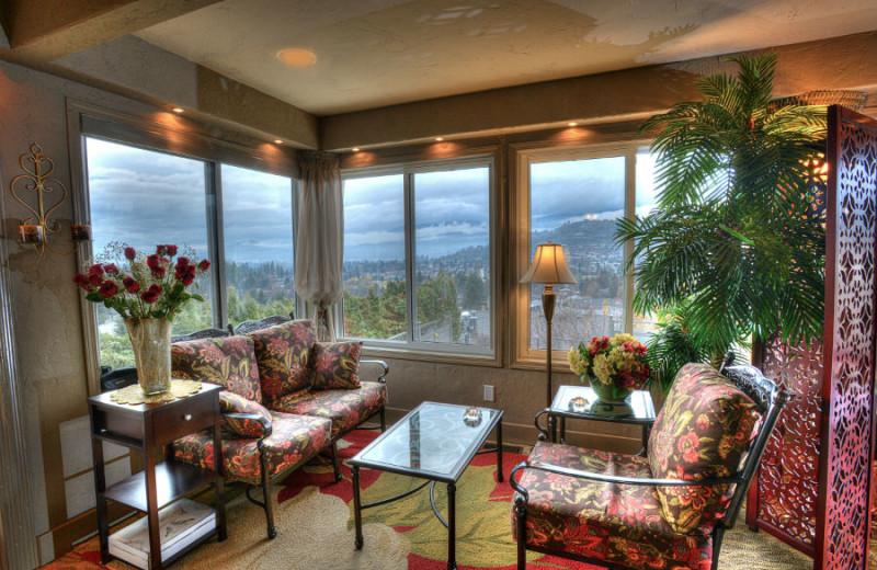 Mountain view at A Vista Villa Couples Retreat.
