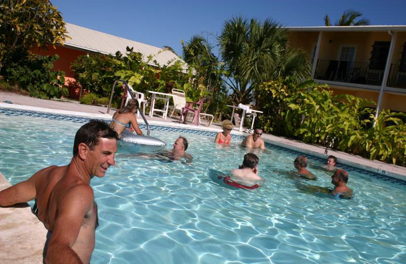 Swimming in the pool at Orange Hill Beach Inn.