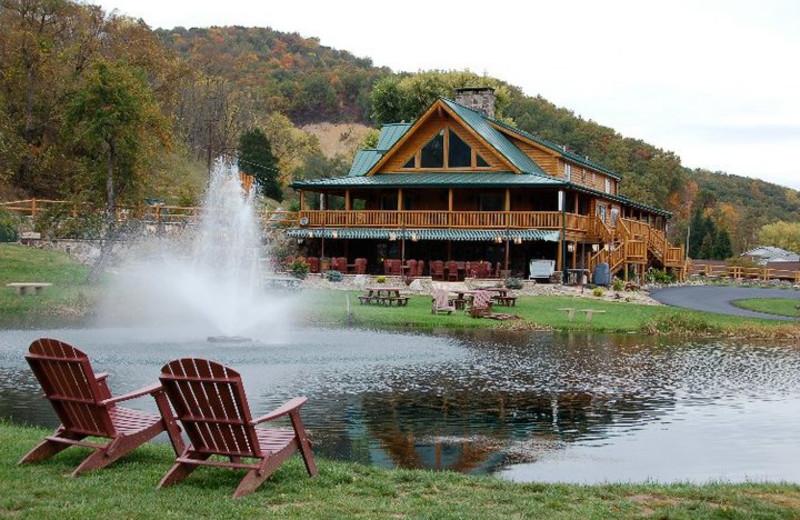 Relaxing at Smoke Hole Caverns & Log Cabin Resort.
