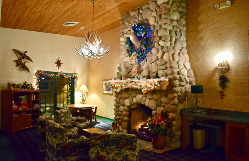 Holiday decor at Whitetail Lodge.