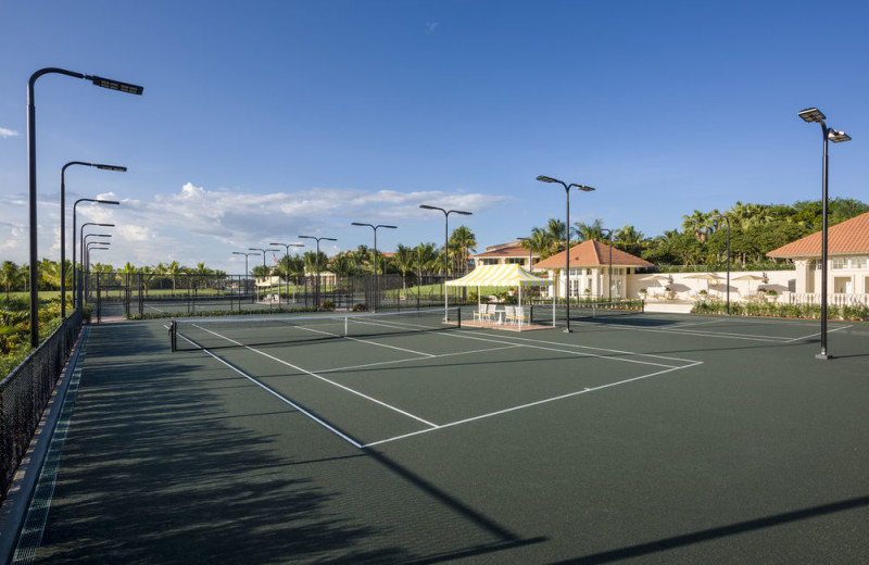 Tennis court at Trump National Doral Miami.