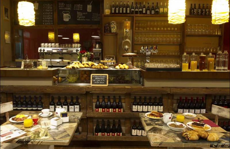 Dining at Albergo Al Cappello Rosso.