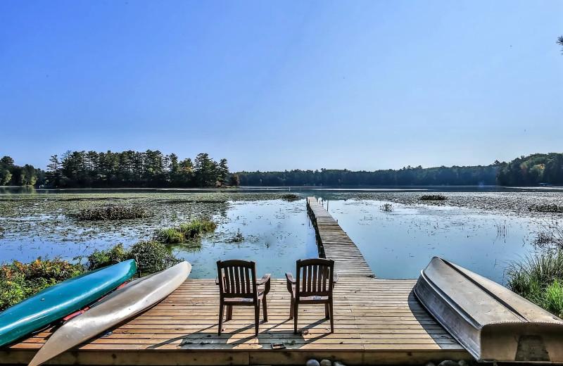 Rental dock at Hiller Vacation Homes.