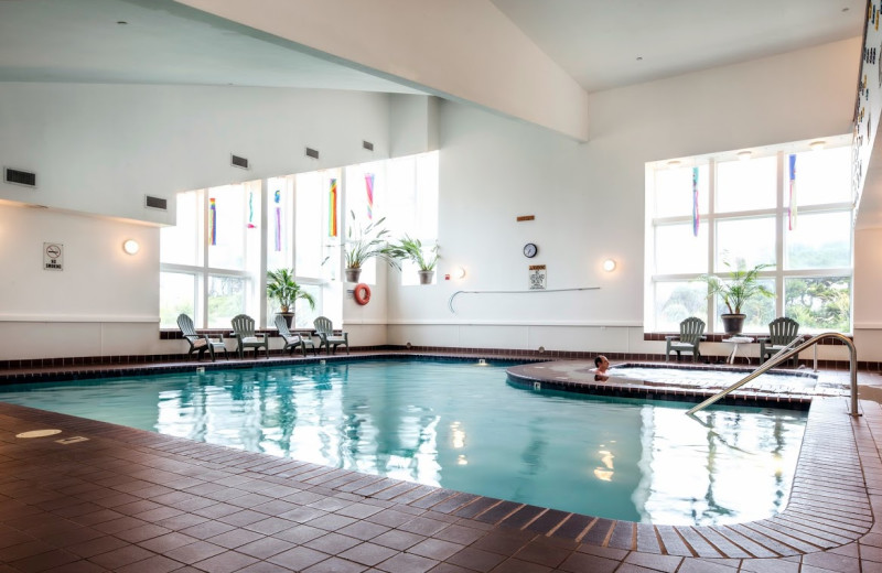 Indoor pool at Hallmark Resort in Newport.