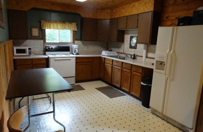 Lodge kitchen at Buckhorn Resort.