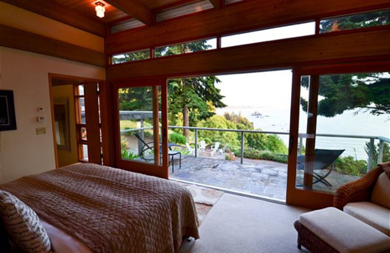 Rental bedroom at  	Redwood Coast Vacation Rentals..