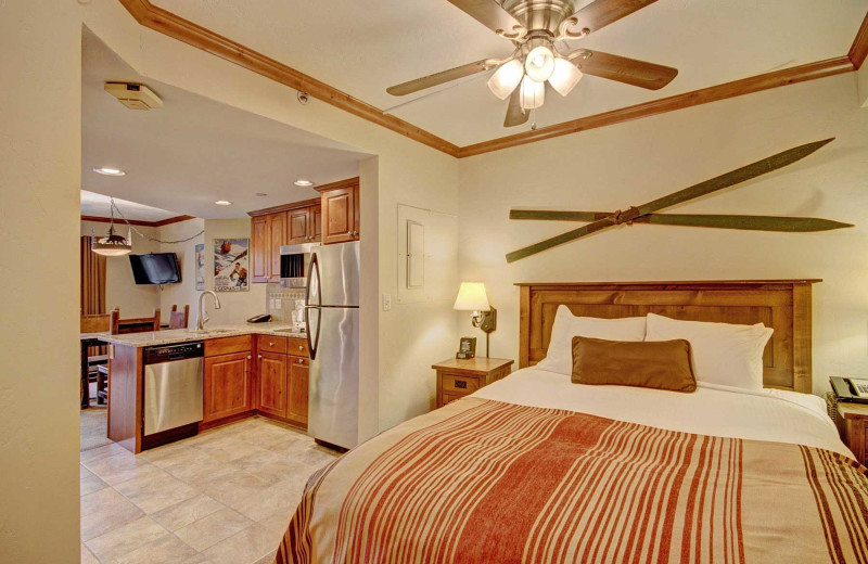 Guest bedroom at Beaver Run Resort & Conference Center.