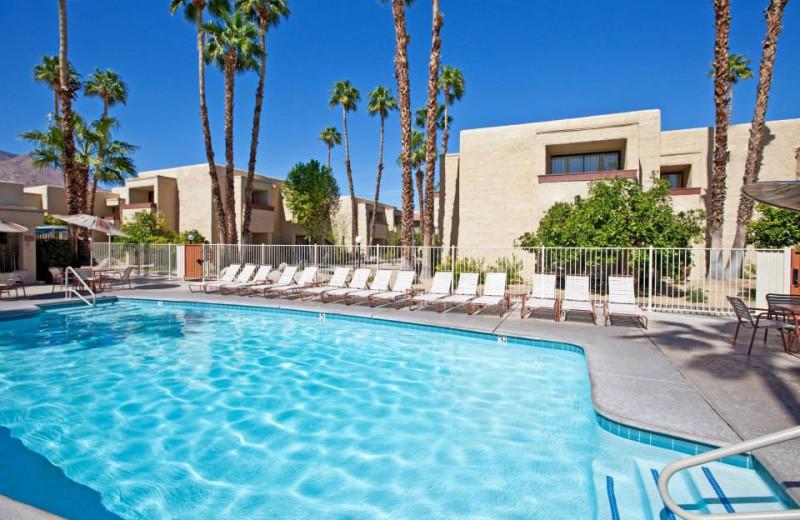 Outdoor pool at Desert Vacation Villas.