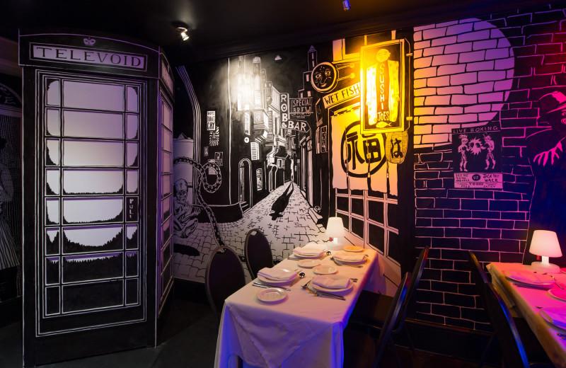 Restaurant at The Exhibitionist Hotel.