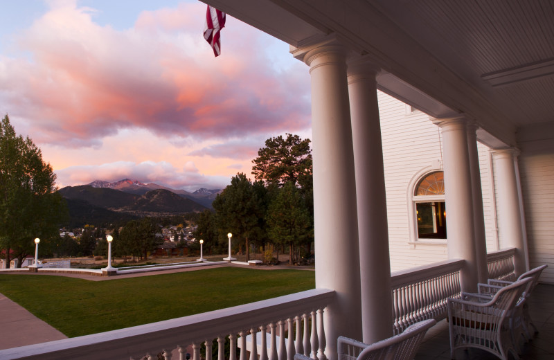 Porch at The Stanley Hotel