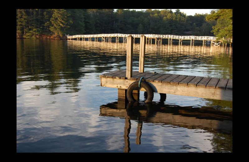 Dock at Voss' Birchwood.