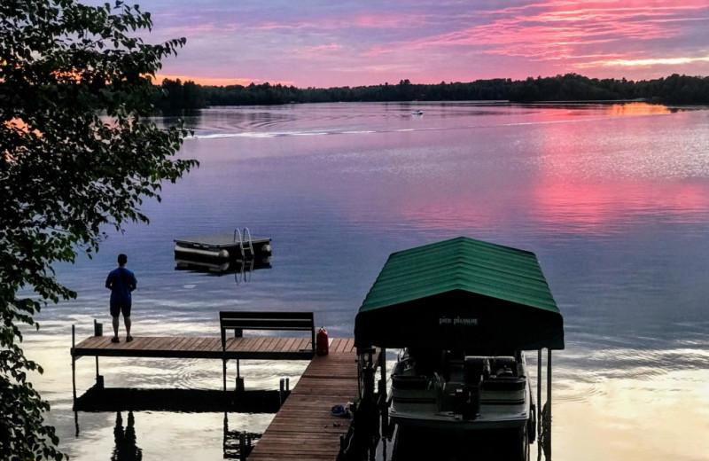 Rental dock space and lake view at Lakeland Rental Management.
