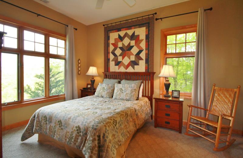 Rental bedroom at Jenkins Rentals.