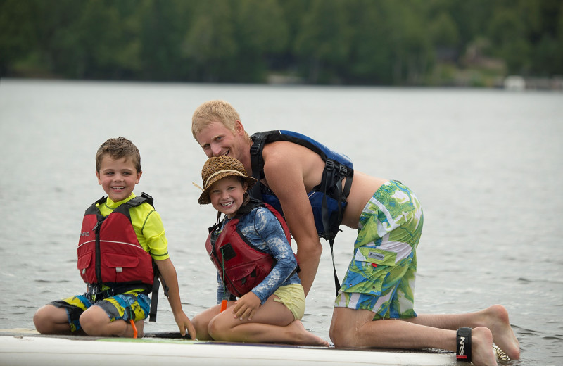 Lake activities at Lutsen Resort on Lake Superior.