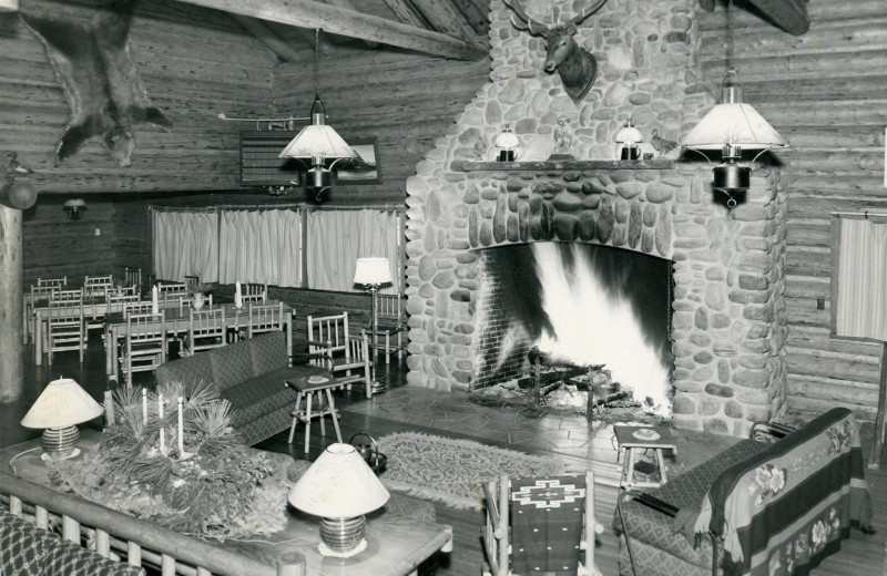 Historic photo of Averill's Flathead Lake Lodge.