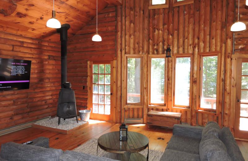 Rental living room at At The Lake Vacation Rentals.