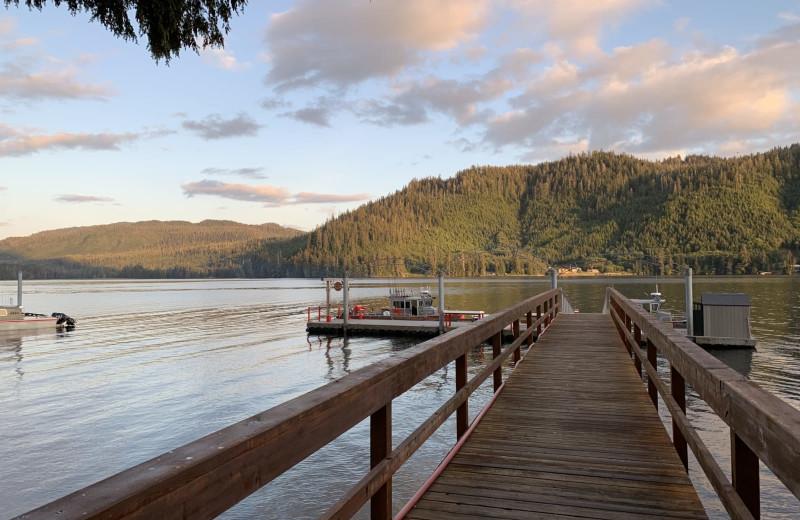 Dock at Screamin' Reels Lodge.