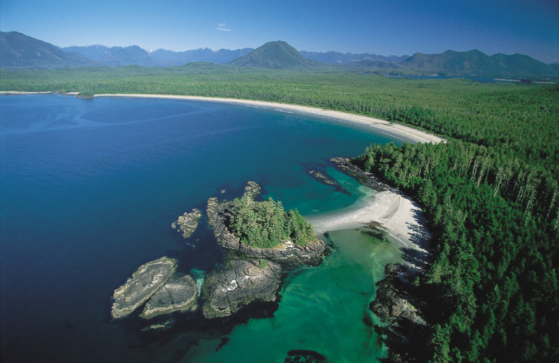 Arial view at Clayoquot Wilderness Resort.