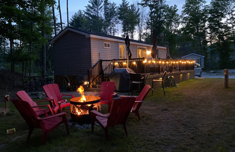 Cottage exterior at Great Blue Resorts- Shamrock Bay Resort.