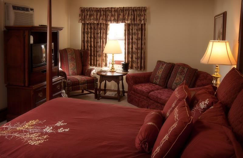 Guest room at Crescent Lodge.