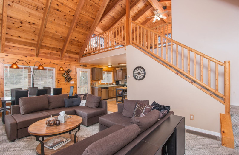 Rental living room at Family Time Vacation Rentals.
