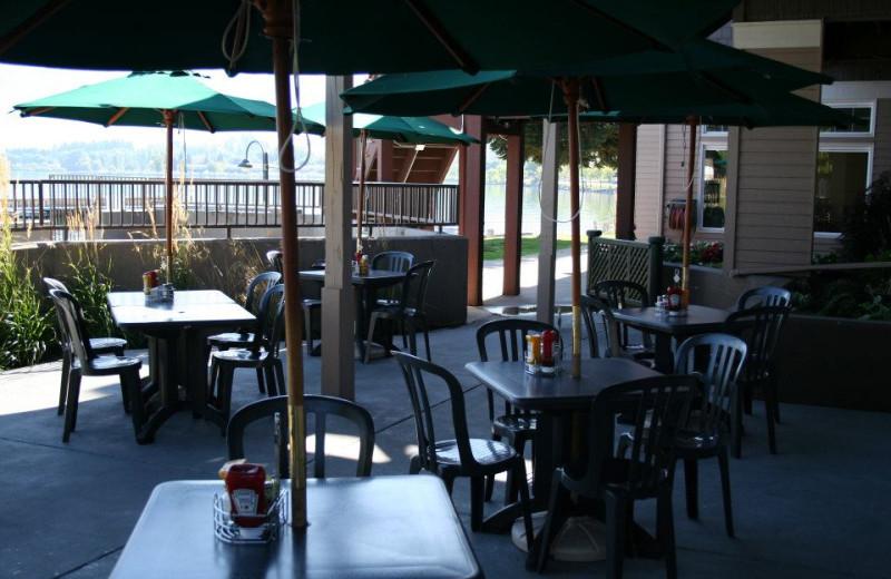 Outdoor Patio at the Best Western PLUS KwaTaqNuk Resort