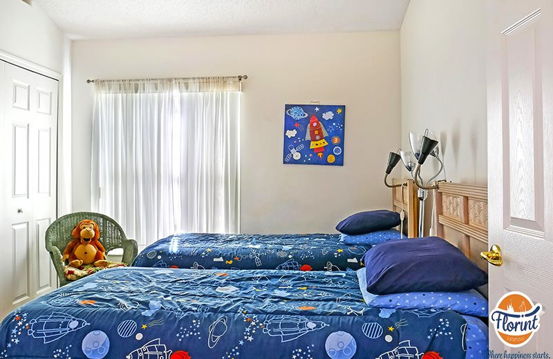 Rental bedroom at Florint Vacations.