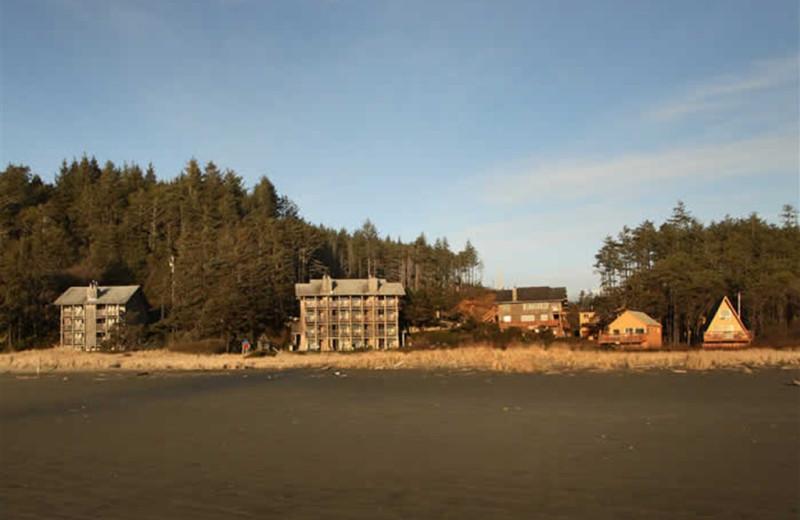 Exterior view of Sandpiper Beach Resort.