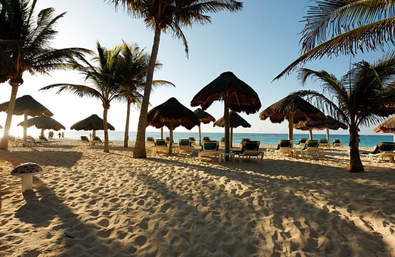 The beach at Mahekal Beach Resort.