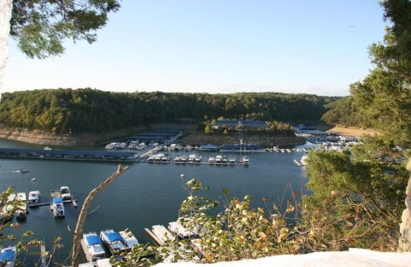 Exterior view of Jamestown Resort and Marina.