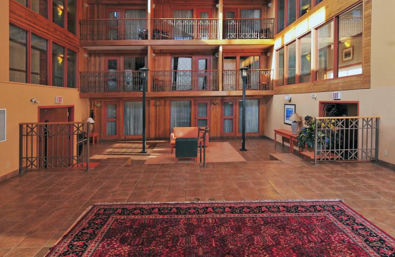 Lobby at Banff Ptarmigan Inn.