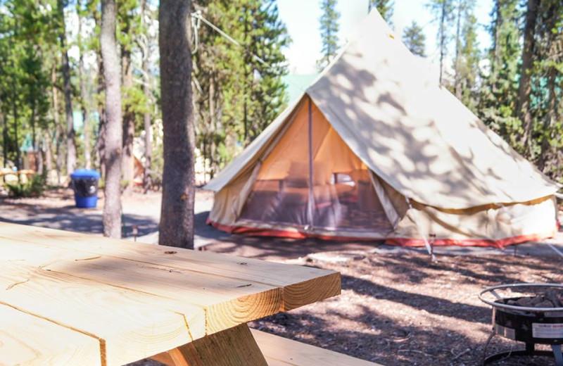 Yurts at Elk Lake Resort.