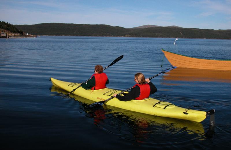 Kayaking at Woody Island Resort.