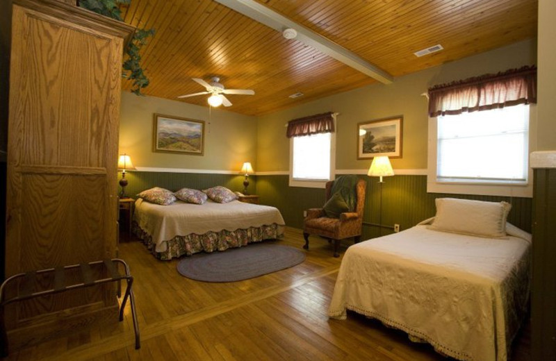 Guest Room at the Highland Lake Inn