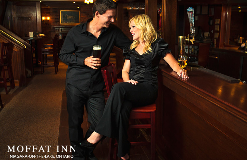 Couple at bar at Moffat Inn.