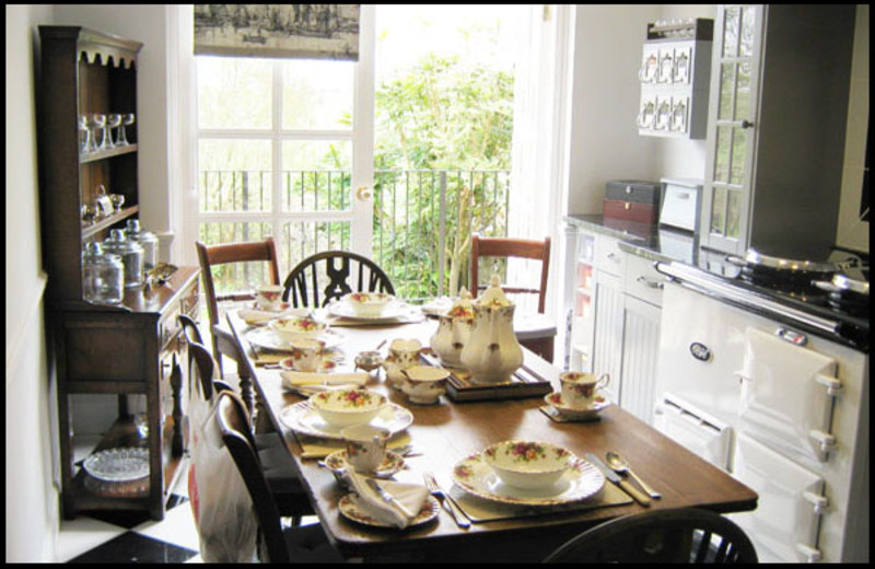 Dining at Wellfield House B&B.