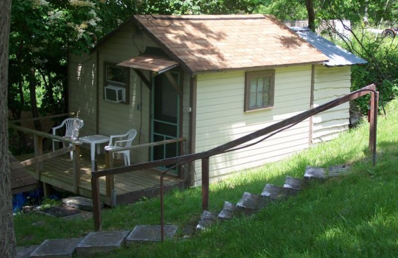 Cabin Exterior at Finger Lakes Waterfall Resort