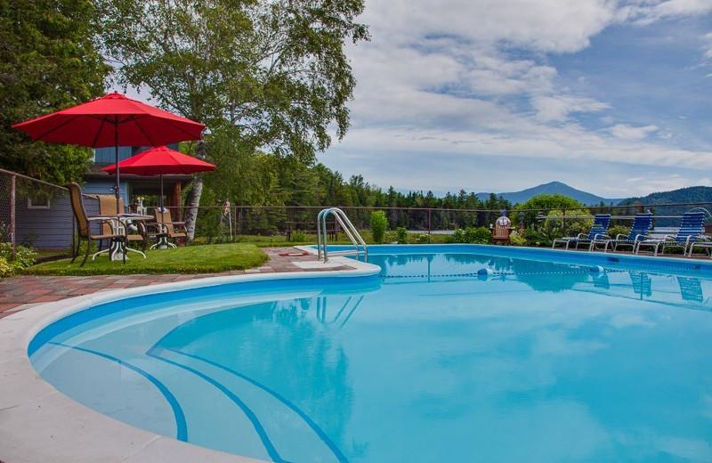 Outdoor pool at Placid Bay Inn.