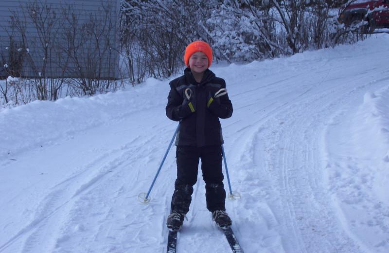 Skiing at Shady Hollow Resort and Campground.