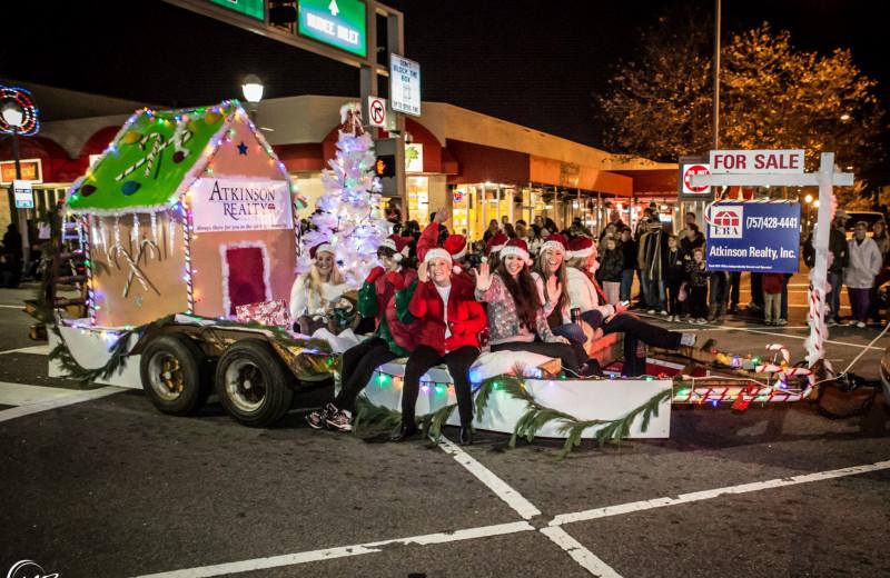 Christmas parade at Atkinson Realty.