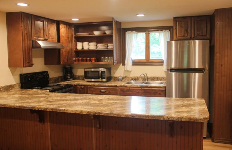 Guest kitchen at Gaston's White River Resort.