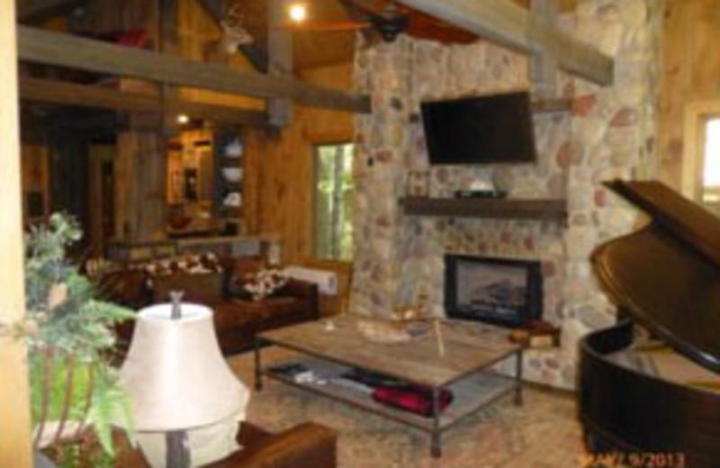 Rental Interior at Mountain Memories Cabin Rentals