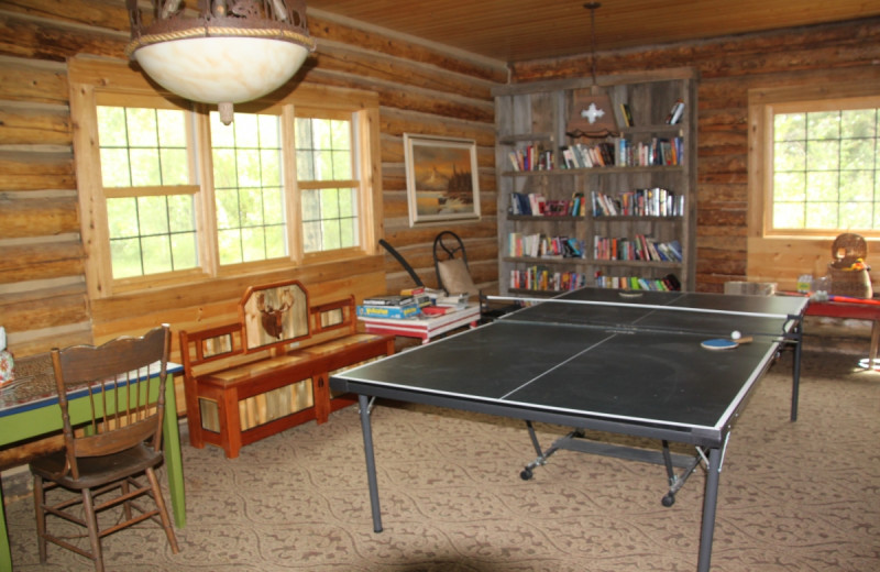 Game room at Medicine Bow Lodge.