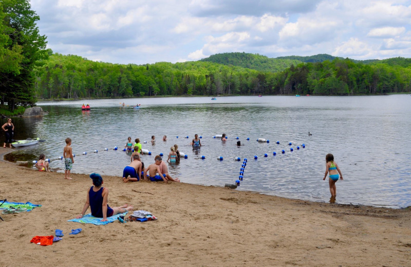 Beach at Old Forge Camping Resort.