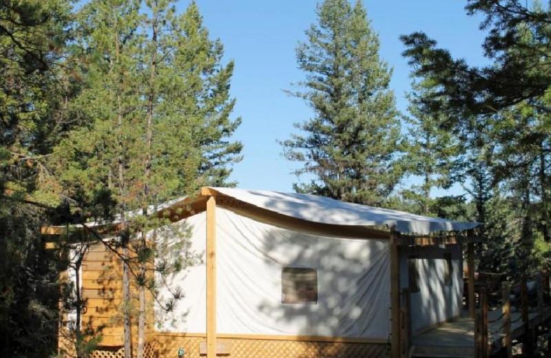 Canvas Cabin Exterior at Siwash Lake Ranch