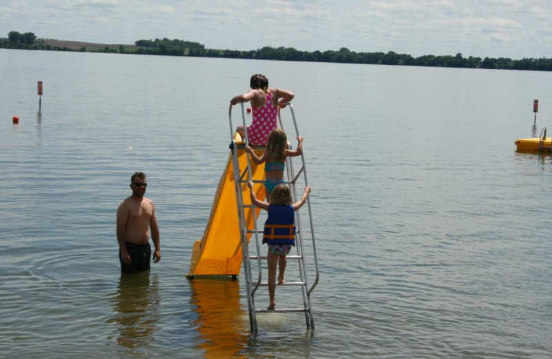 Water slide at Ten Mile Lake Resort -Otter Tail Country Lakes Tourism.