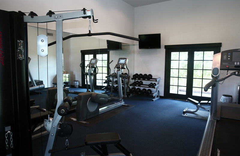 Fitness room at Greystone Castle Sporting Club.